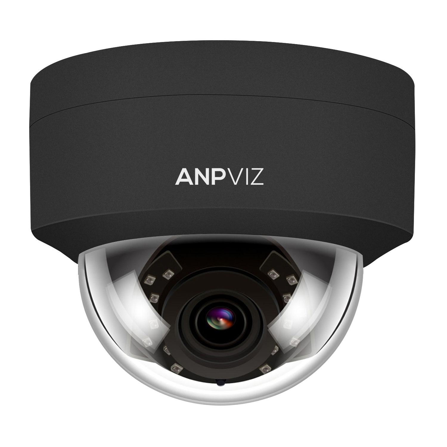 (Hikvision Compatible) Anpviz 5MP H.265 IR Dome IP Camera PoE, IP Security Camera Night Vision 98ft, Motion Alert, Weatherproof IP66 Indoor Outdoor ONVIF Compliant, Wide Angle 2.8mm Black (IPC-D250B)