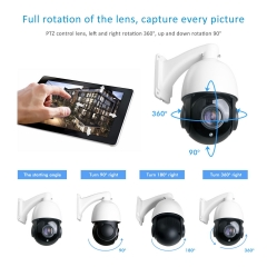 Anpviz 1080P IP PoE High Speed PTZ Outdoor Security Camera, 30X Optical Zoom HD 2.0 megapixel 30fps ONVIF Night Vision up to 250ft (AZ-IPZ45230E)